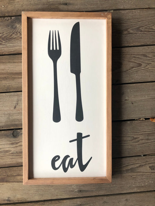 Eat frames  wood sign