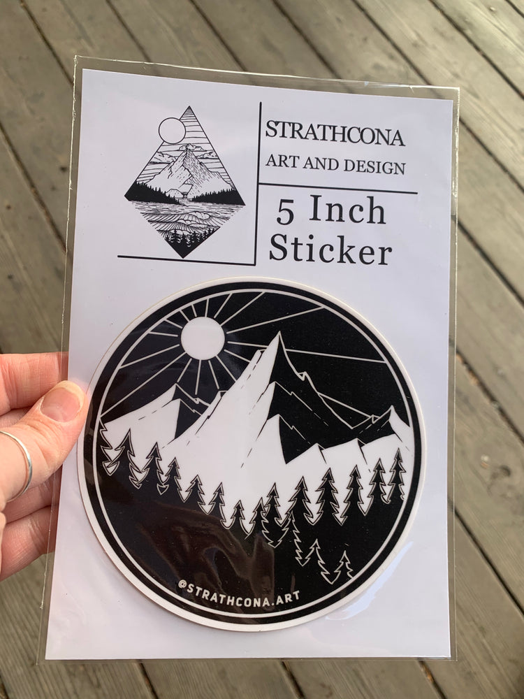 "5"" Sticker West Coast Mountains and tree line"