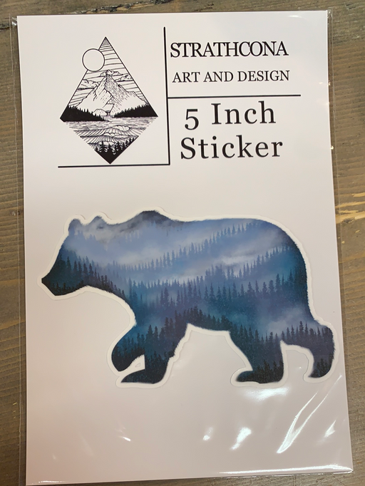 "5"" Sticker West Coast Bear"