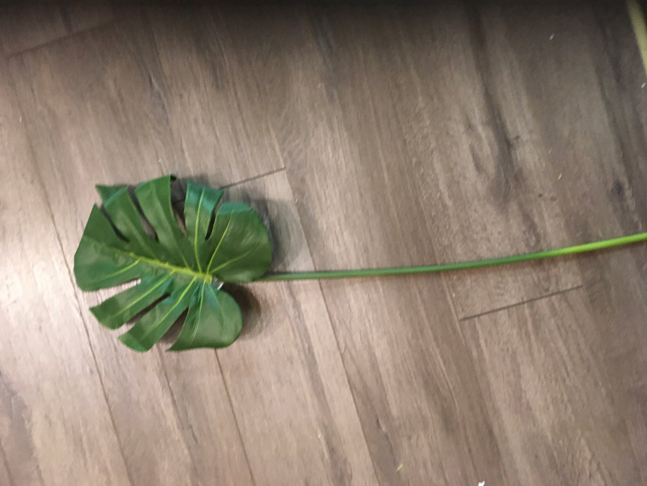 Large faux monstera leaf