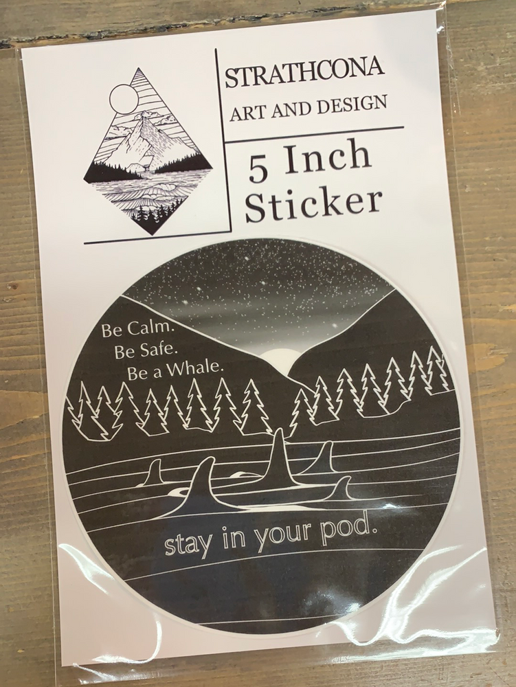 "5"" Sticker Stay in your Pod"
