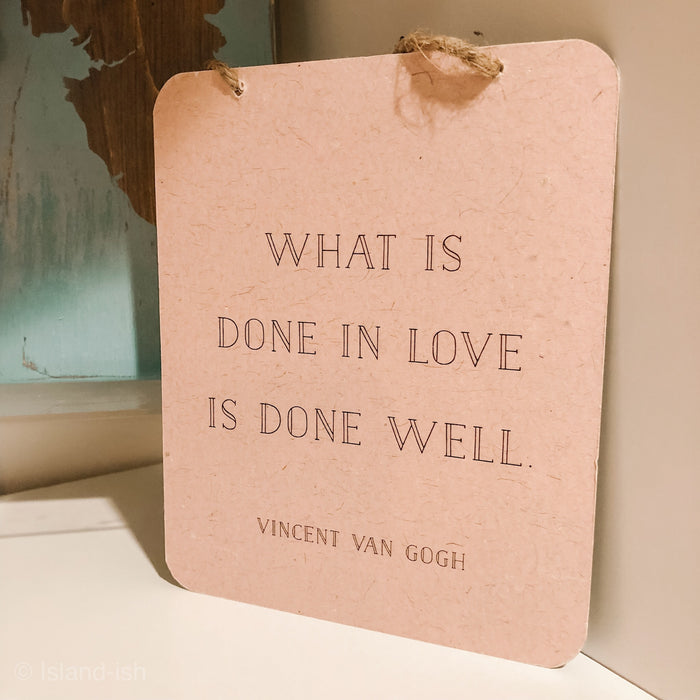 What is done in love sign