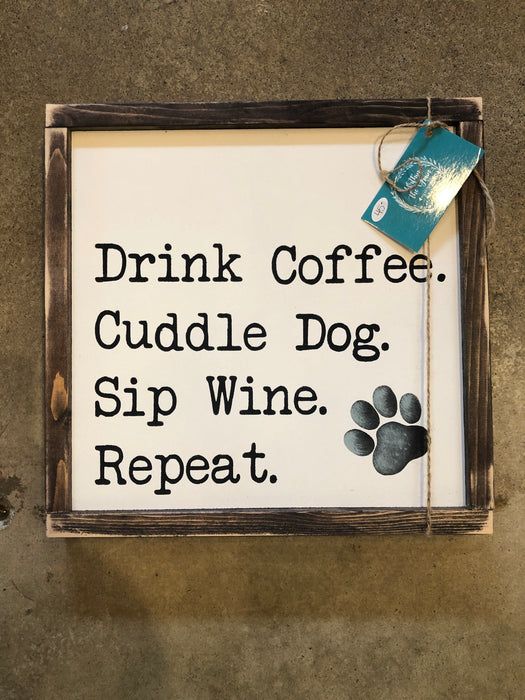 Drink Coffee Cuddle Dog