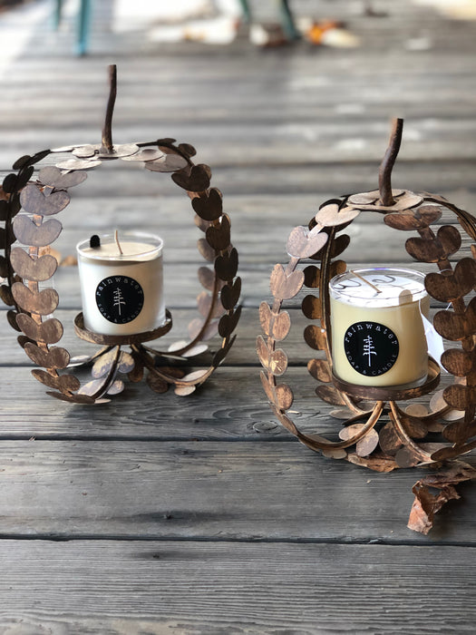 Rustic Pumpkin Candle Holder