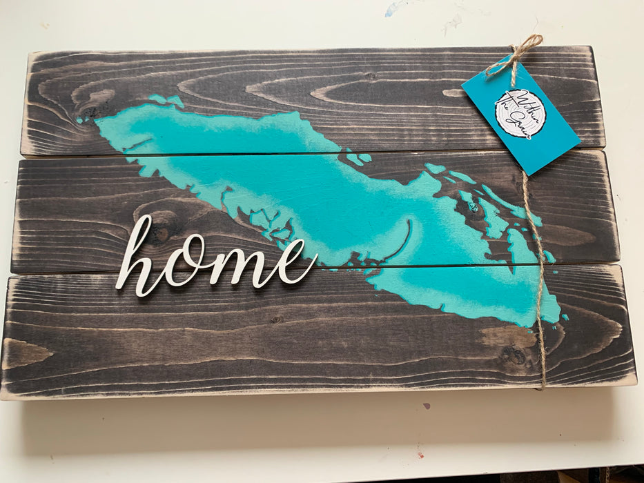 Home 3D Wood Sign Consign