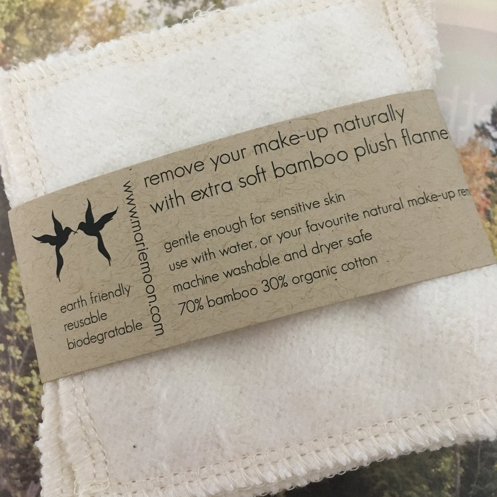 Bamboo make up remover Flannel Cloths