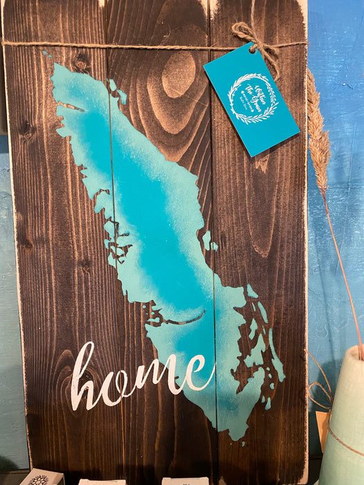 Home island pallet sign consignment