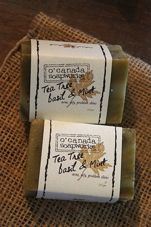 Tea Tree and Basil and mint Bar soap