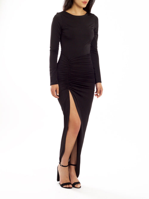 Bella Ruche Slit Dress - PRADEGAL