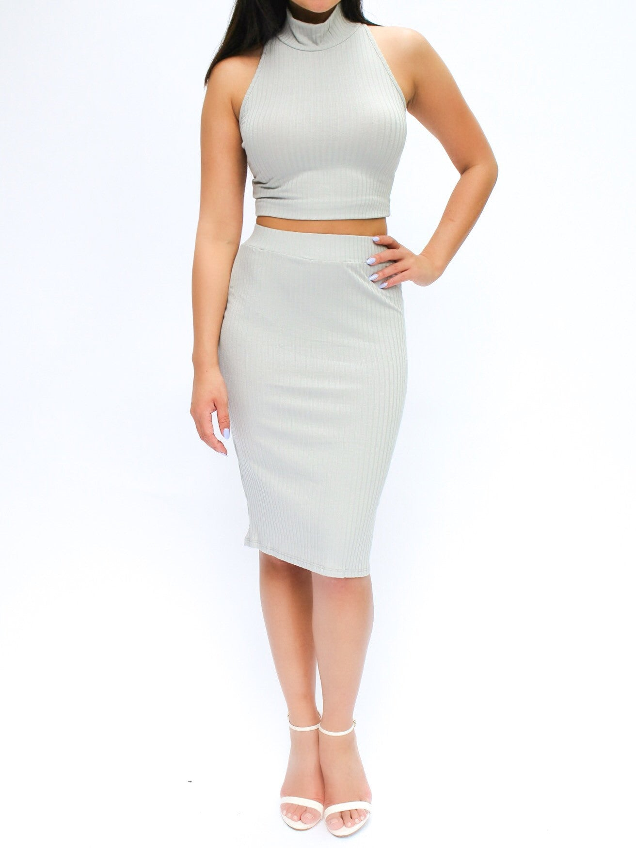 Sylvia Ribbed Two Piece Set - PRADEGAL