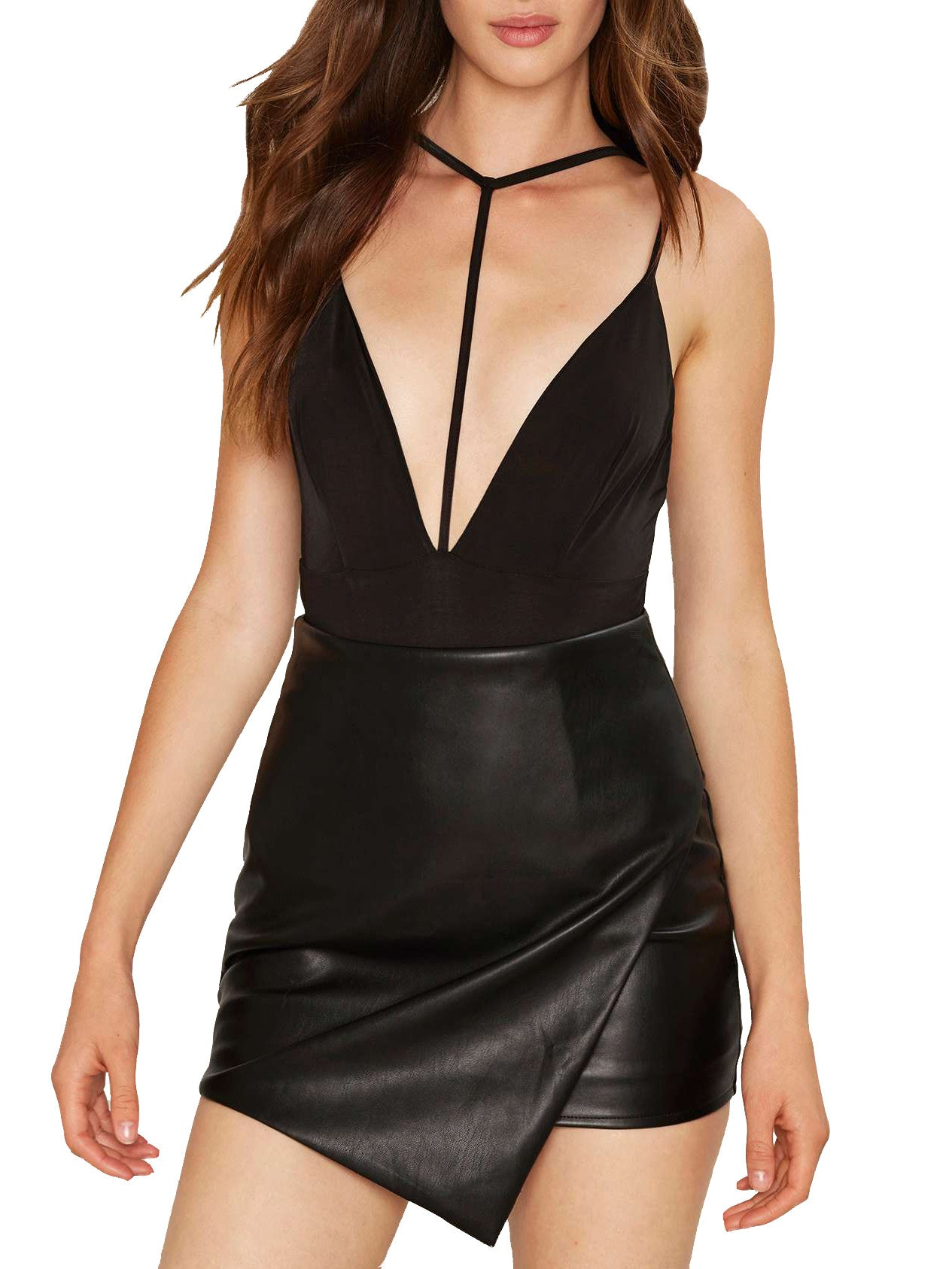 Alline Deep Plunge Bodysuit - PRADEGAL