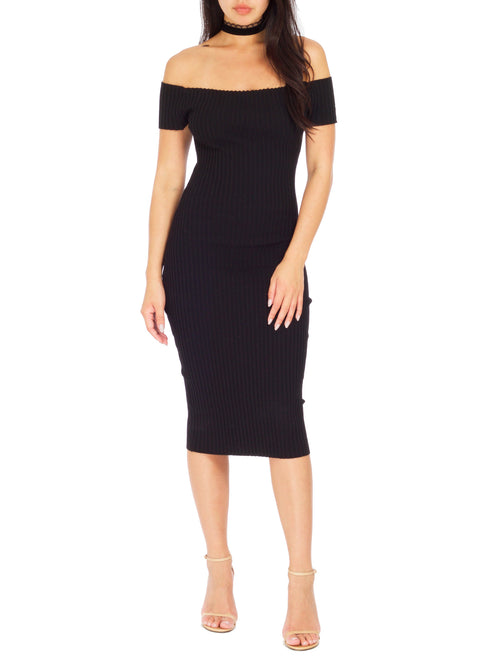 Date Night Ribbed Dress - PRADEGAL