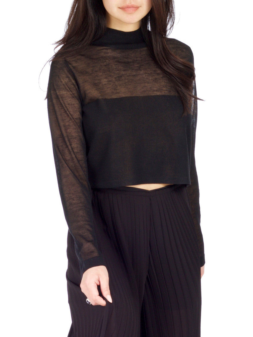 Dark Side Knit Crop Top - PRADEGAL