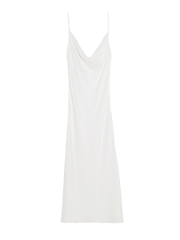 KARLY Ivory MIDI Slip Dress - PRADEGAL