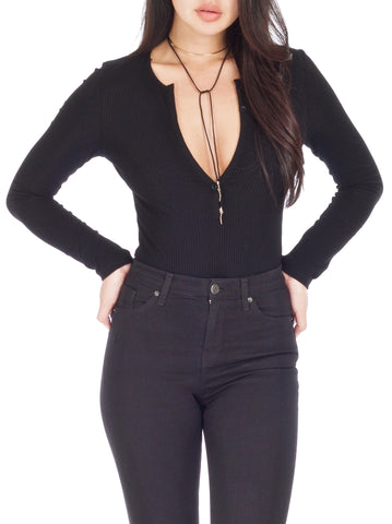 Alline Deep Plunge Bodysuit