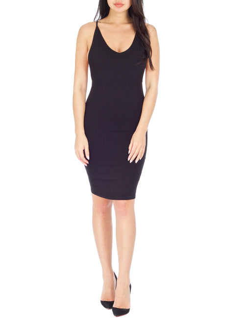 Black Roxy Peek-A-Boo dress - PRADEGAL