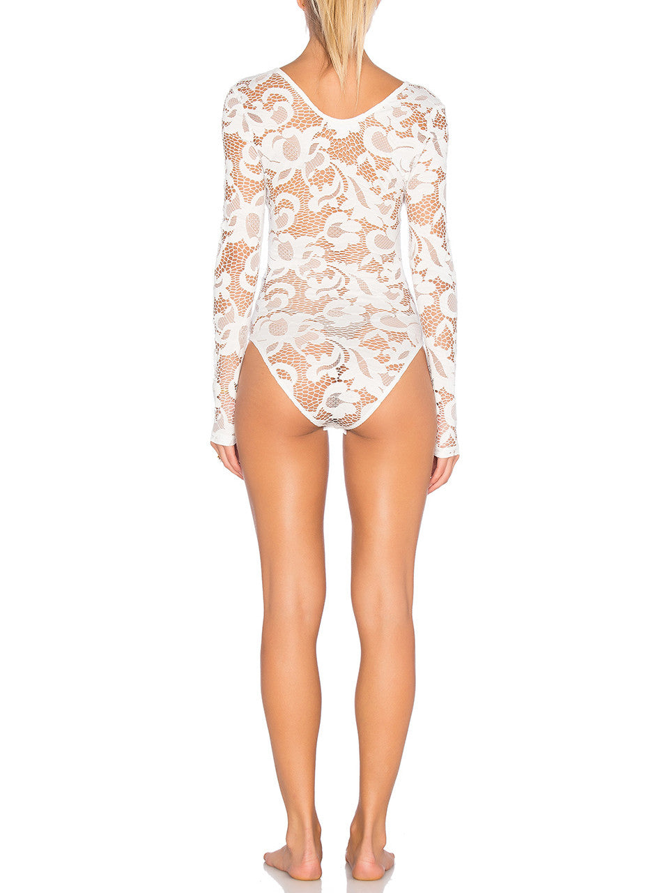 High Speed Floral Lace Bodysuit - PRADEGAL