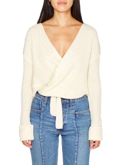 EDA Wrap Knit Sweater - PRADEGAL