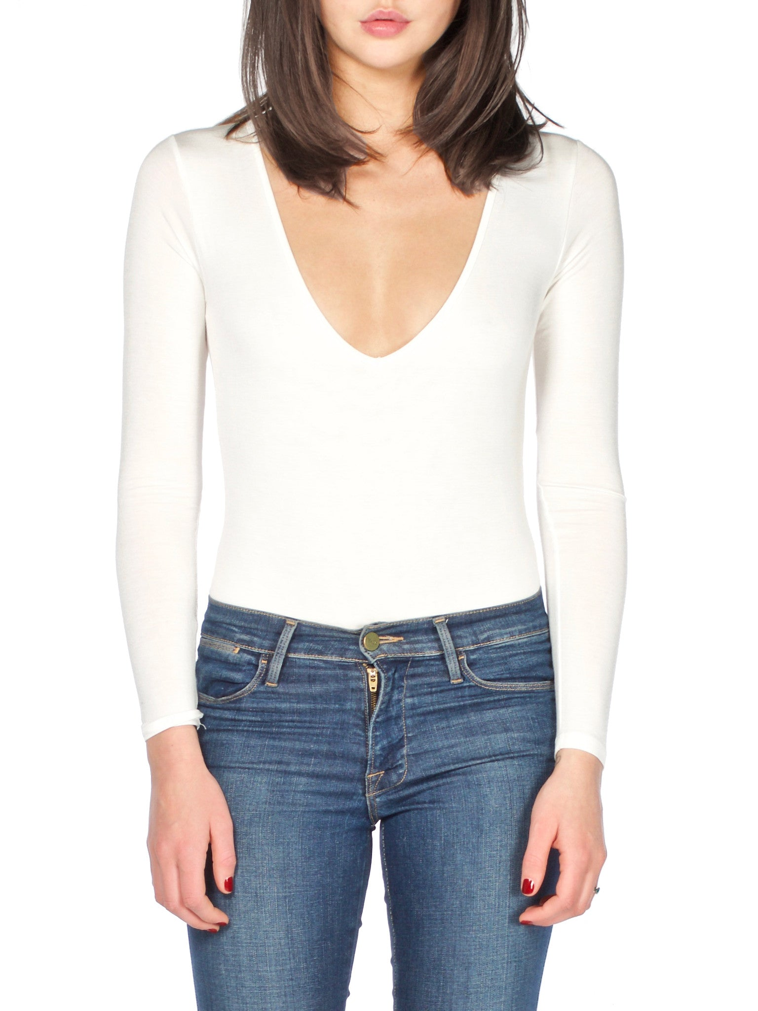 White Oh So Basic Bodysuit - PRADEGAL