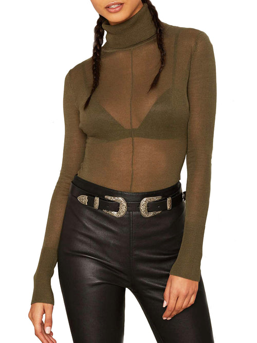 So Knit Turtleneck Bodysuit - PRADEGAL