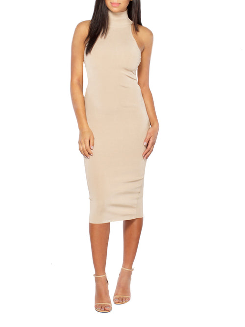 Up to my Neck Midi Dress - PRADEGAL