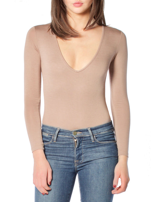 Mocha Oh So Basic Bodysuit - PRADEGAL