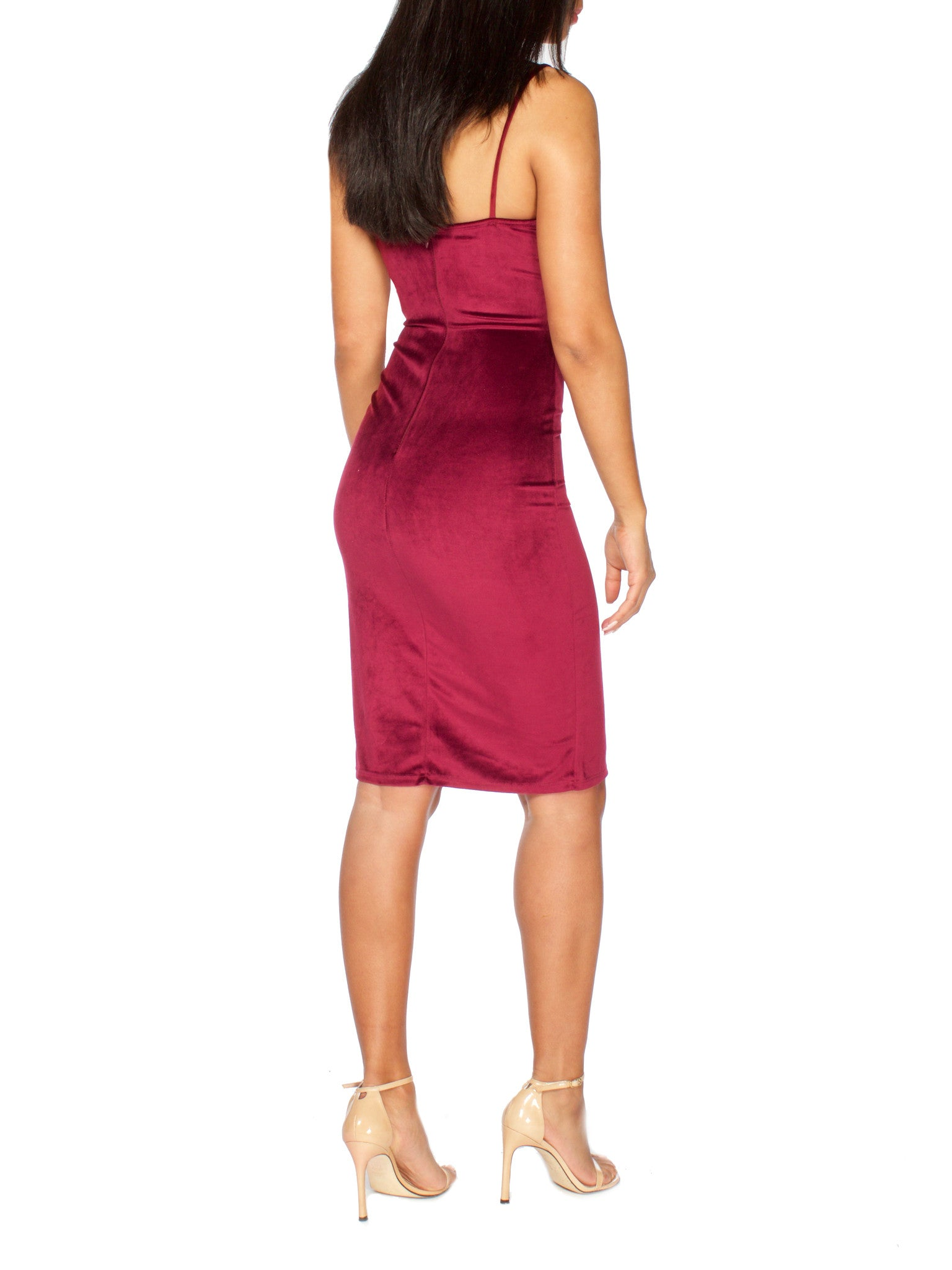 Victoria Plunging Slit Dress - PRADEGAL