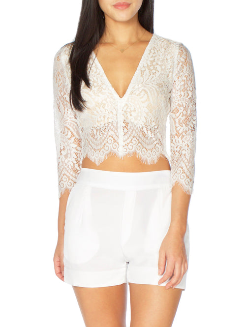 High Waist White Shorts - PRADEGAL