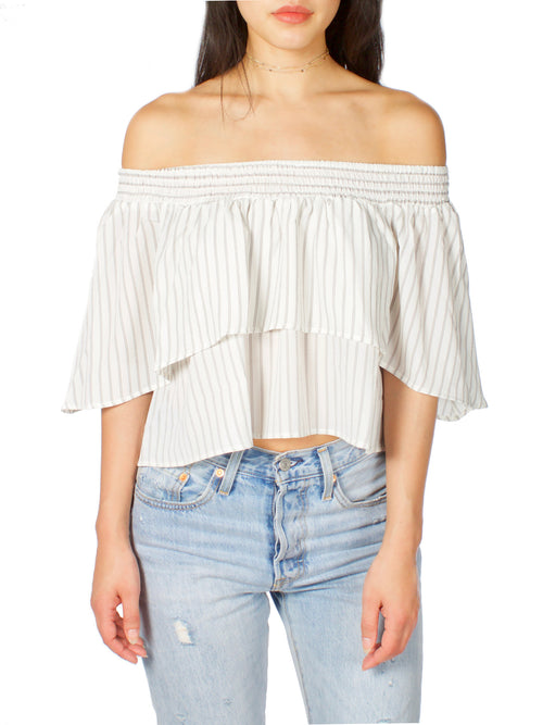 Chainlink Off The Shoulder Top - PRADEGAL