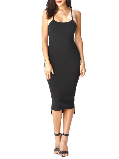 Latisse All Ties Ribbed Midi Dress (Pre-Order) - PRADEGAL