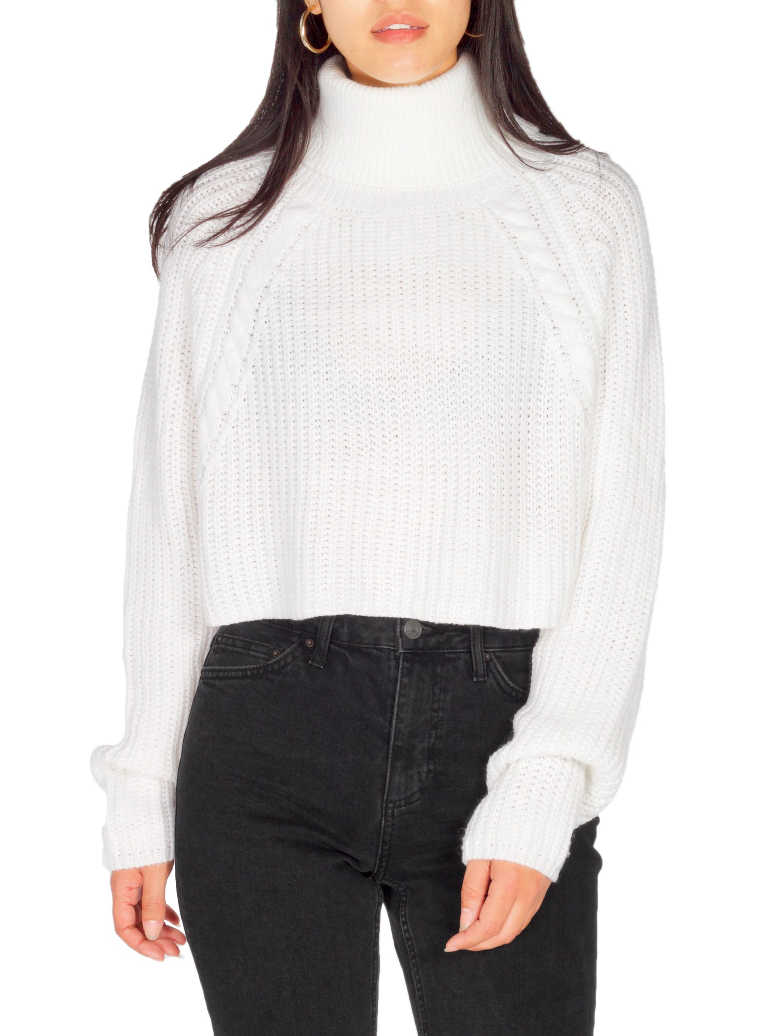 HAILEY White Knit Crop - PRADEGAL