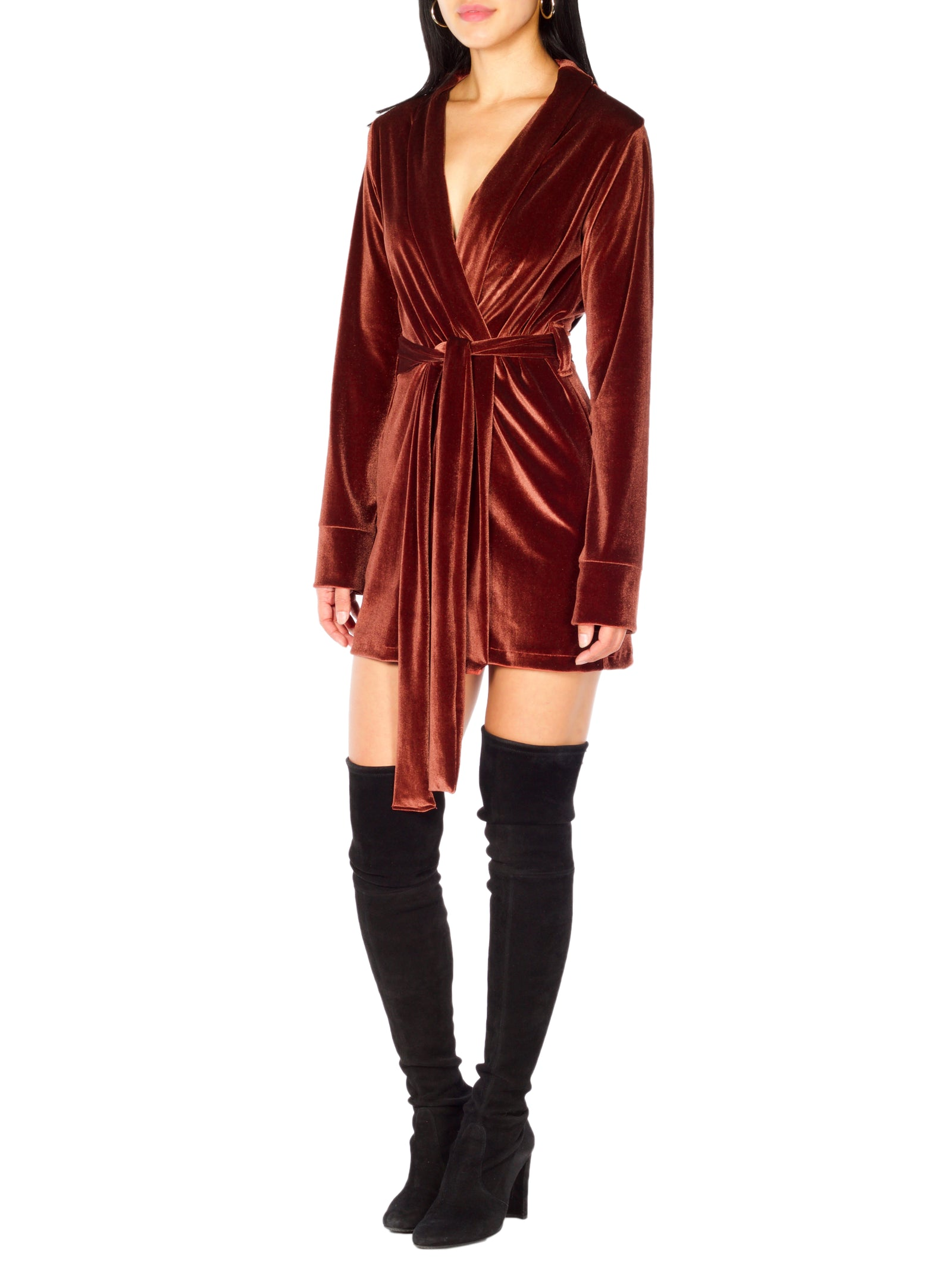 Hanan Velvet Robe Dress (+Colors)