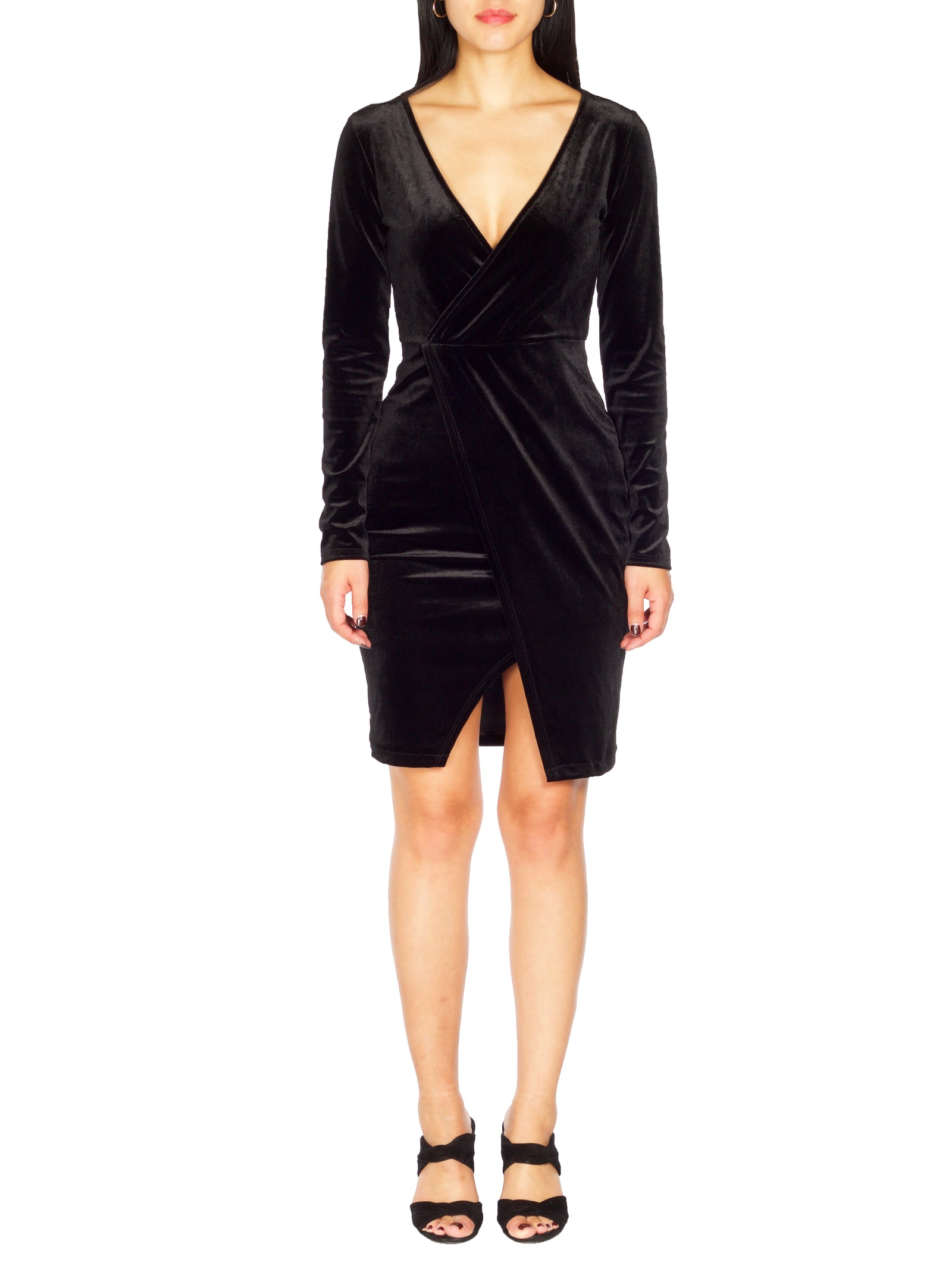 JUJU Velvet Wrap Dress - PRADEGAL
