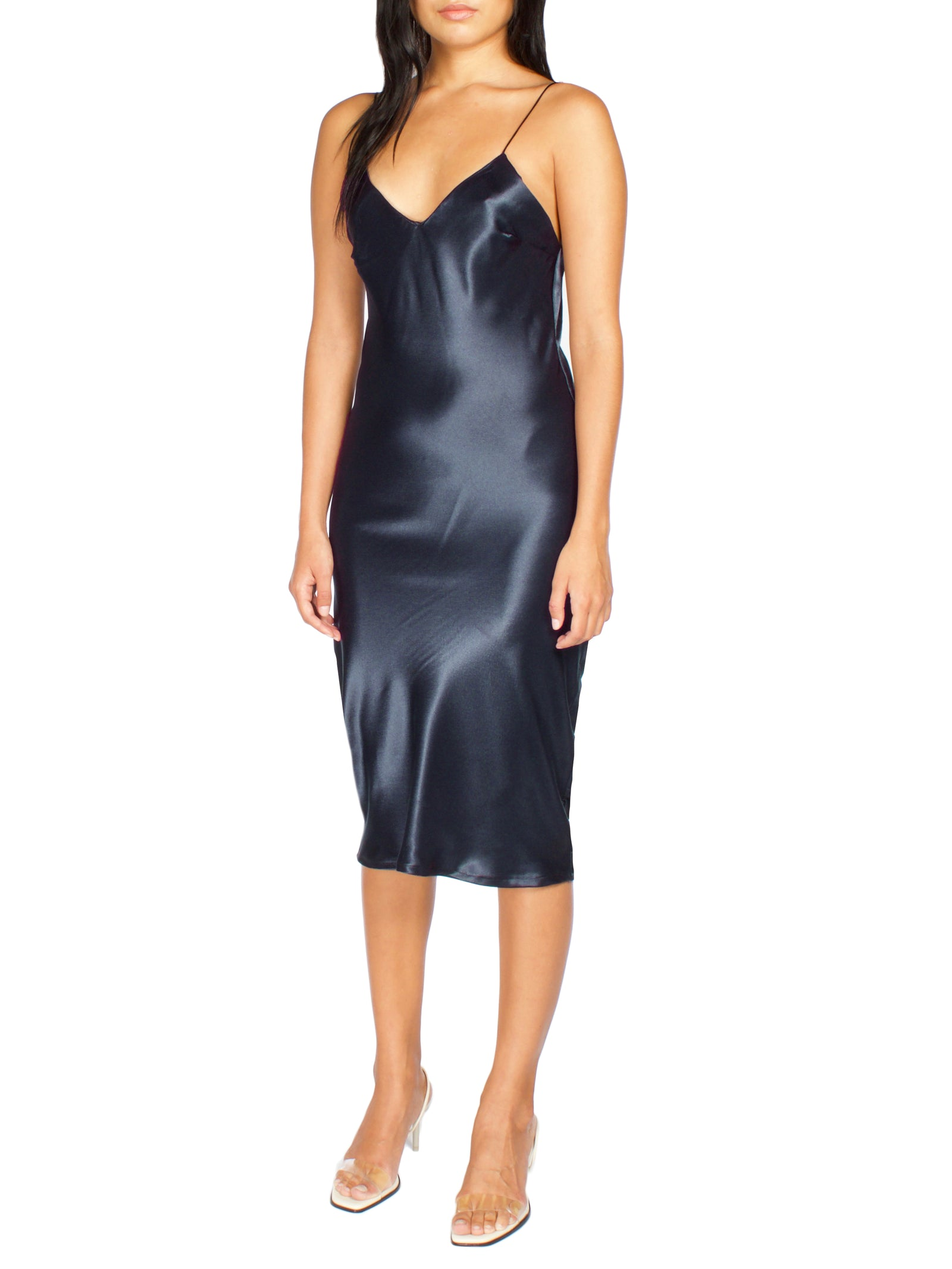 DREA Midi Slip Dress - PRADEGAL