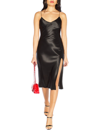 CHLOE Velvet Mini Slit Dress
