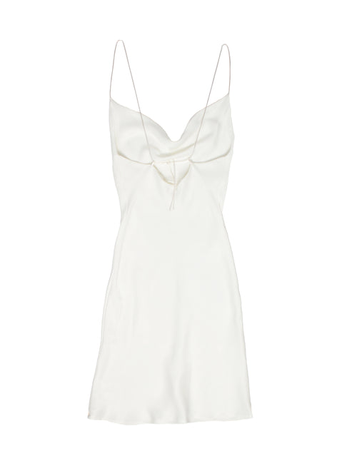 KARLY Ivory Mini Slip Dress - PRADEGAL