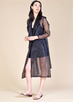 FENN Organza Trench Coat - PRADEGAL