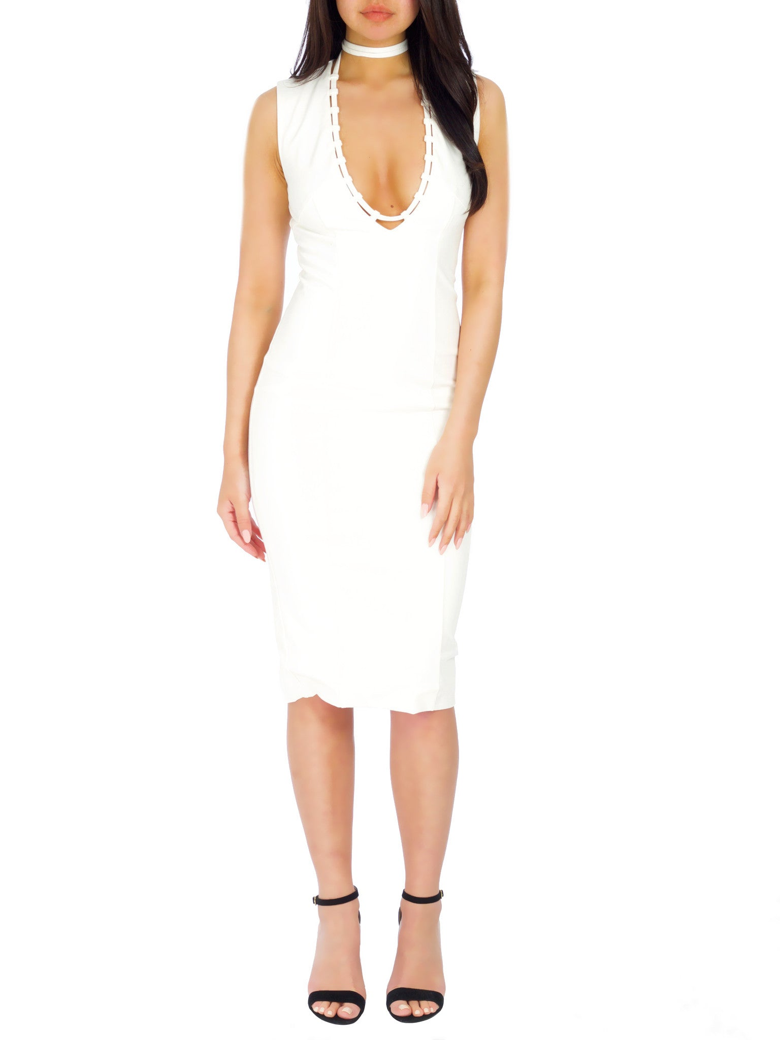Superstition Dress -White - PRADEGAL