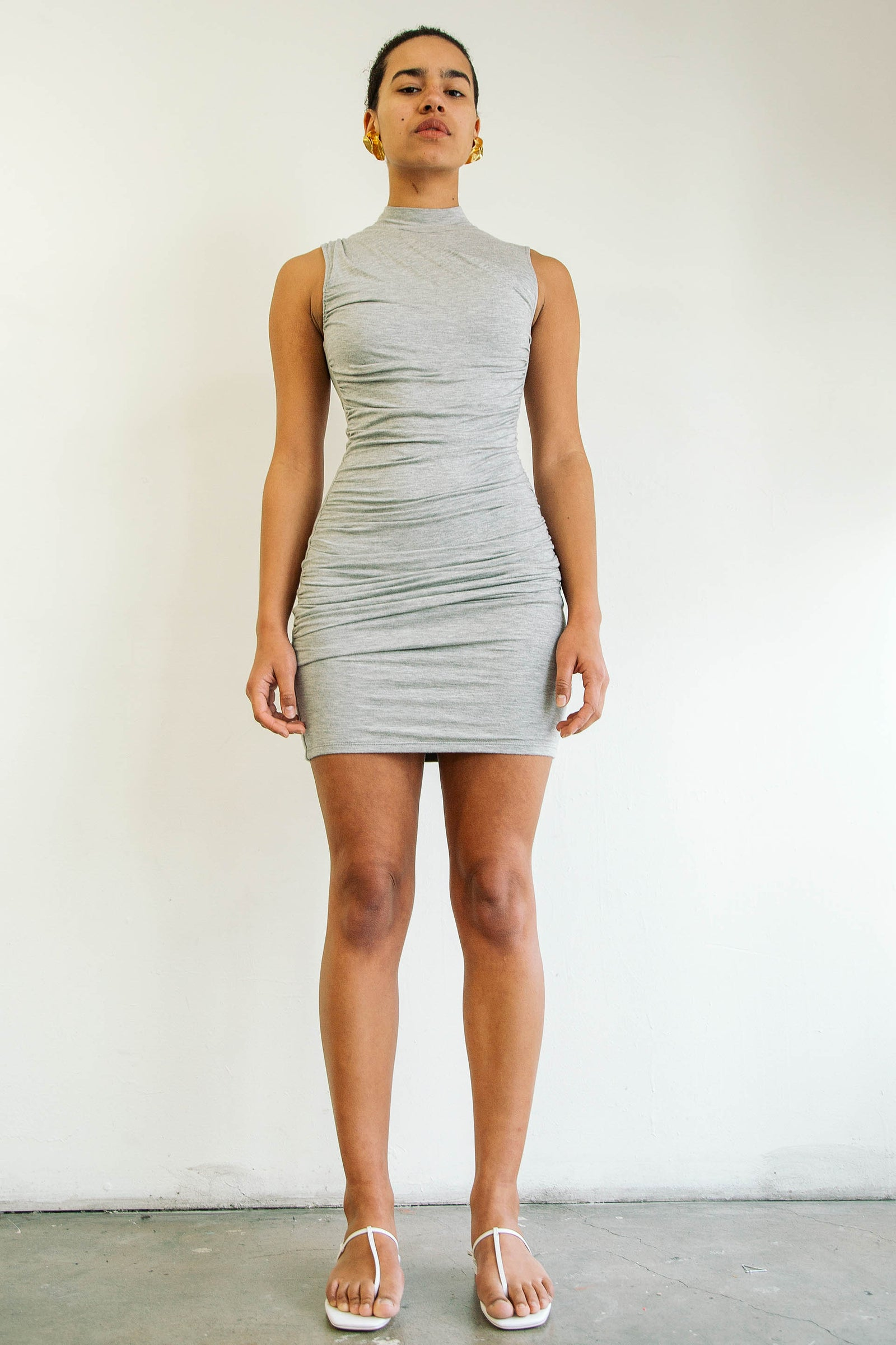 Ayme Dress Heather Grey The Line By K
