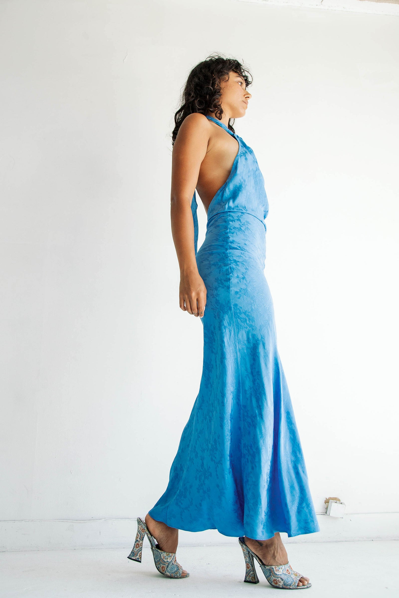 BELLE DRESS CERULEAN BLUE