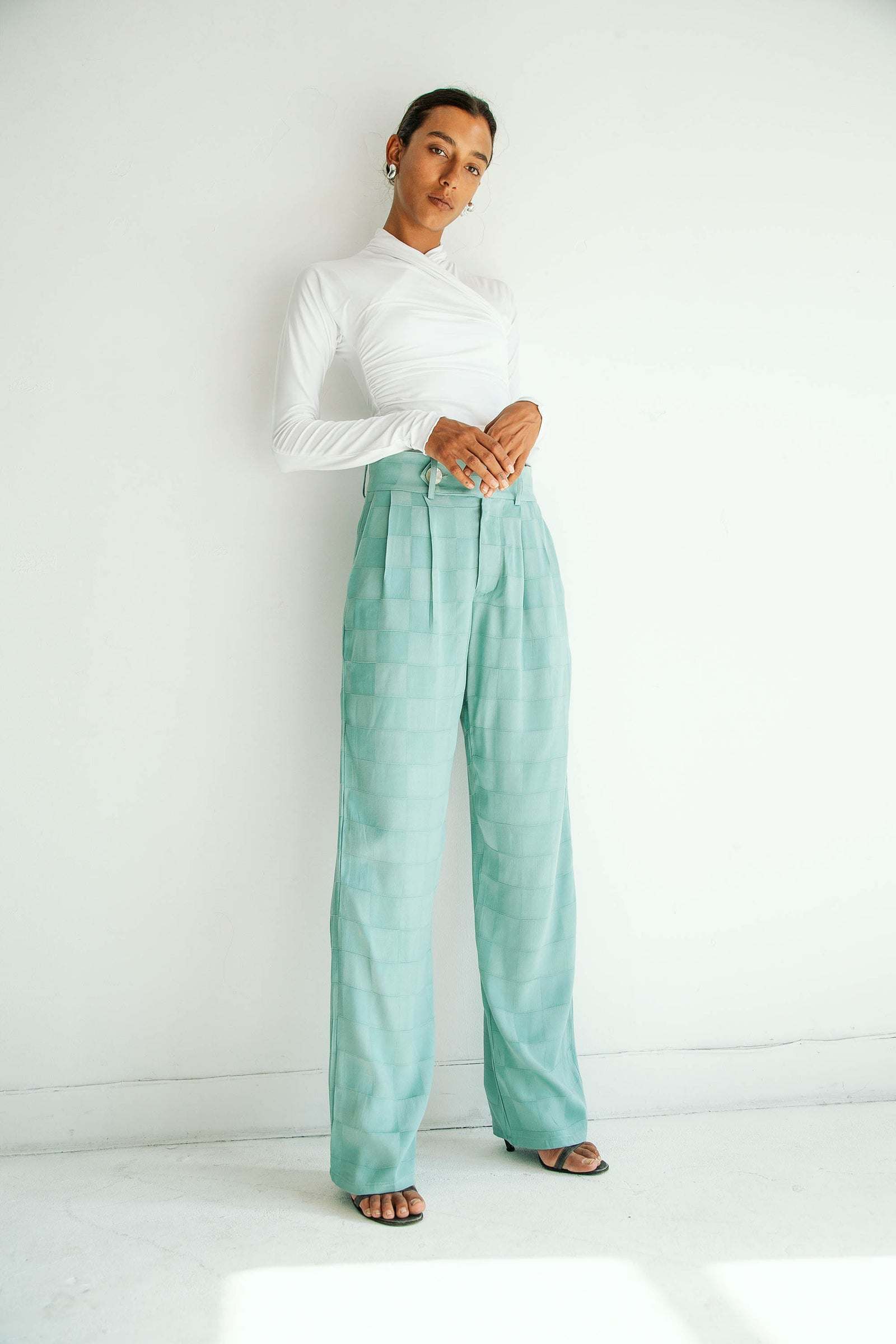BETTINA TROUSER SPIRULINA