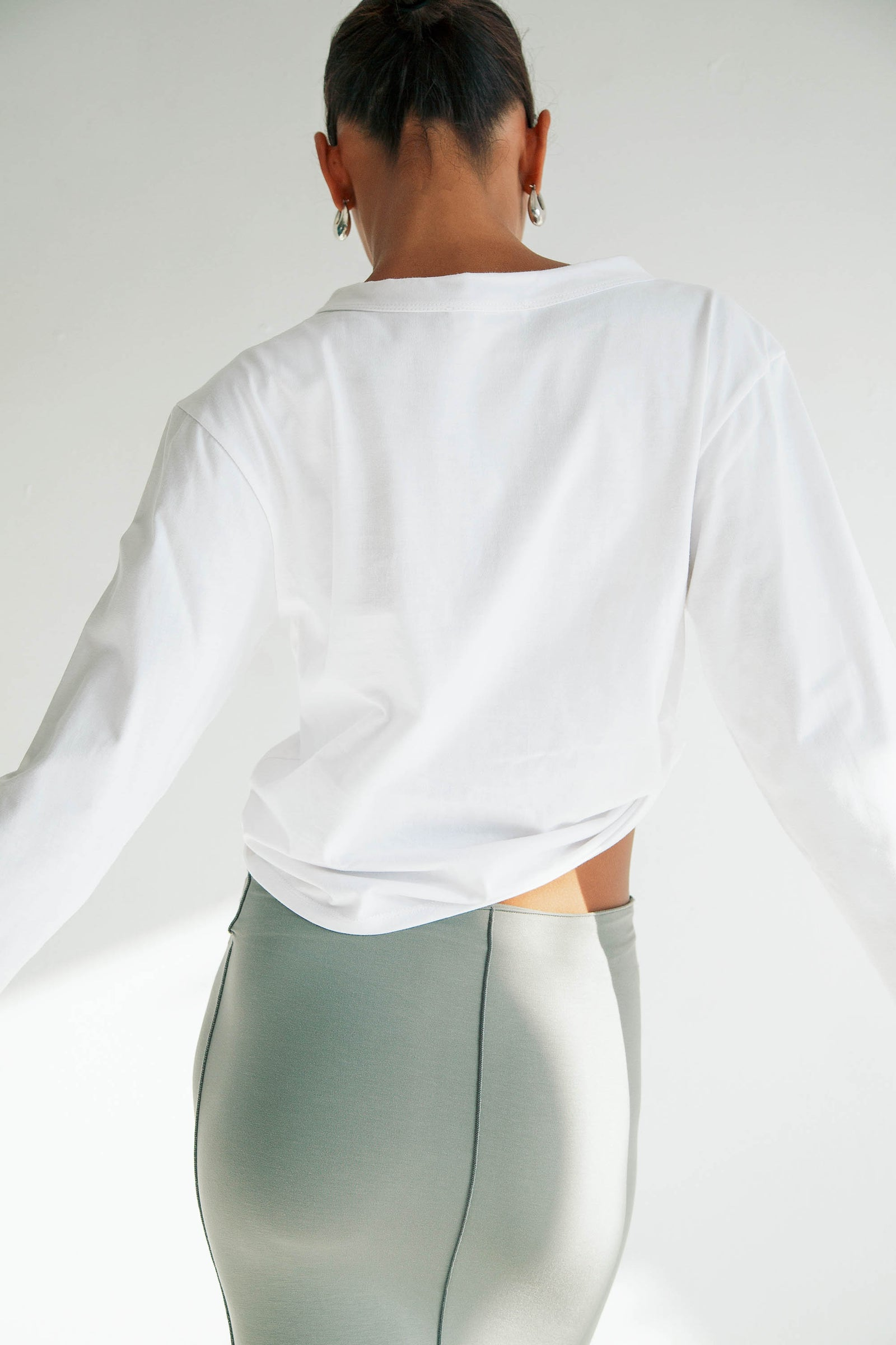 CHELY LONG SLEEVE TEE WHITE