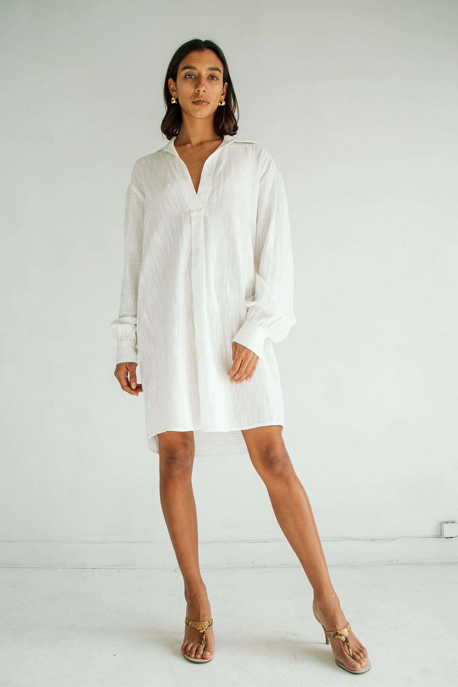 COKI SHIRT DRESS WHITE
