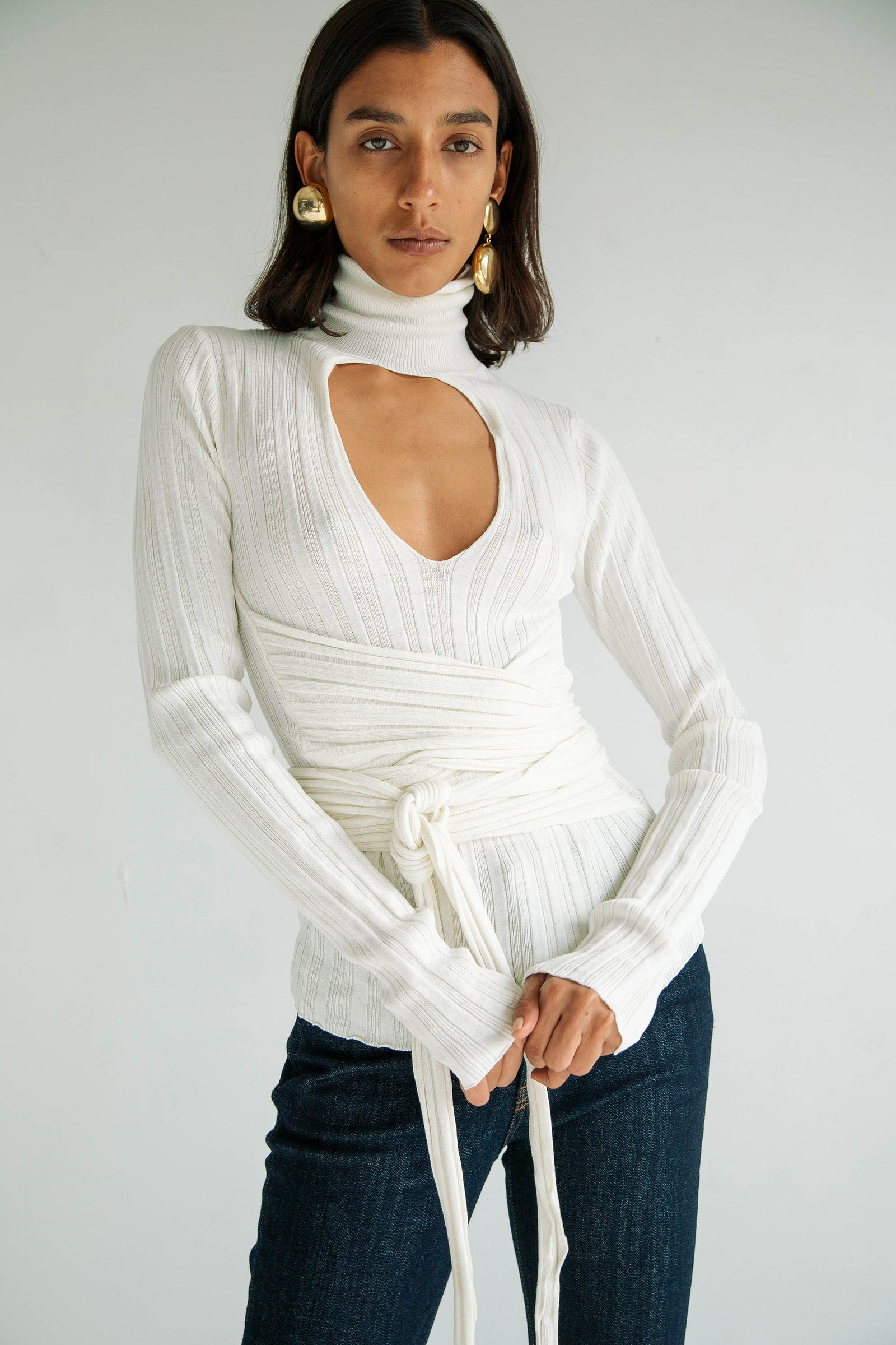 CYBIL SWEATER OFF-WHITE