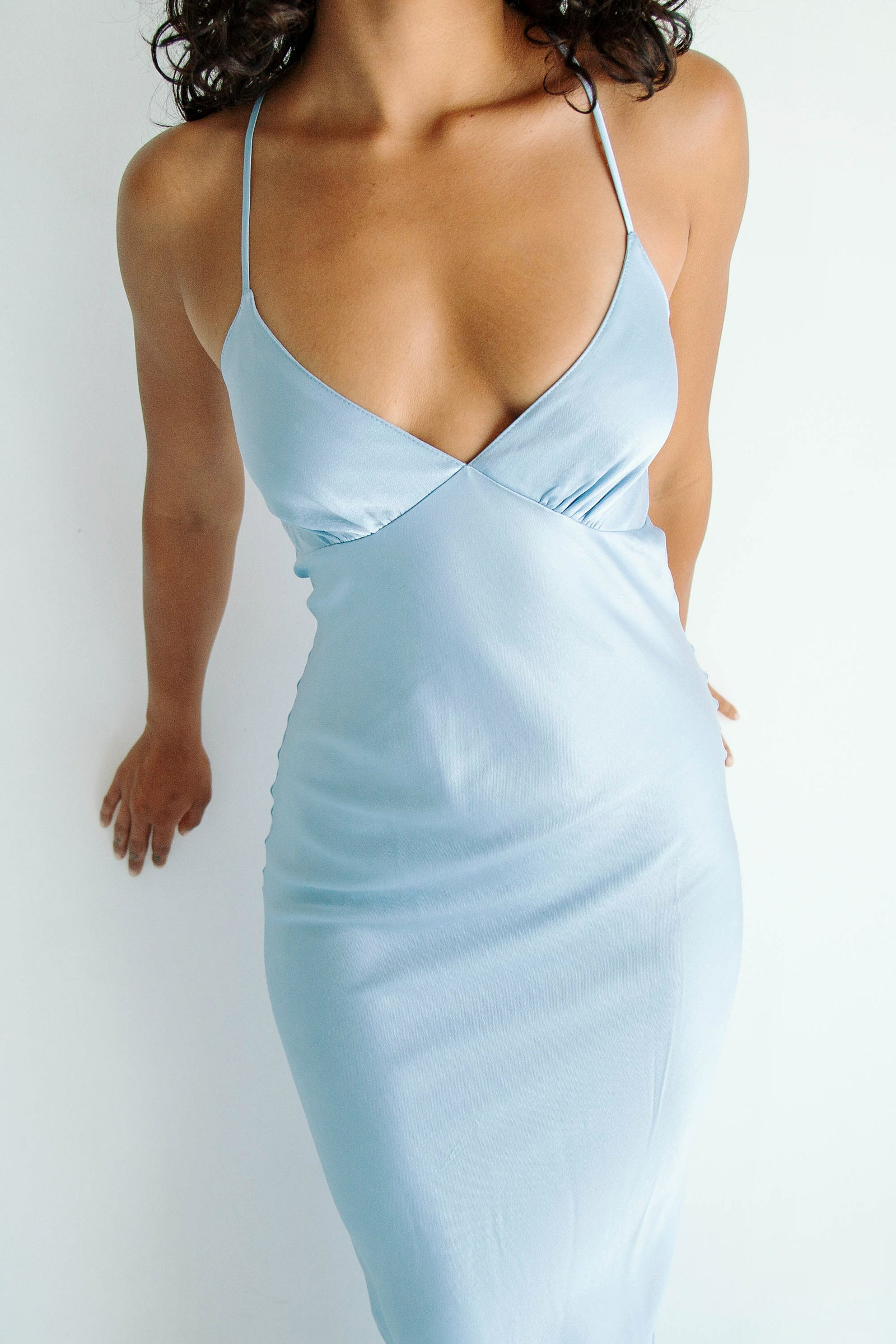 Florence Slip Dress Powder Blue