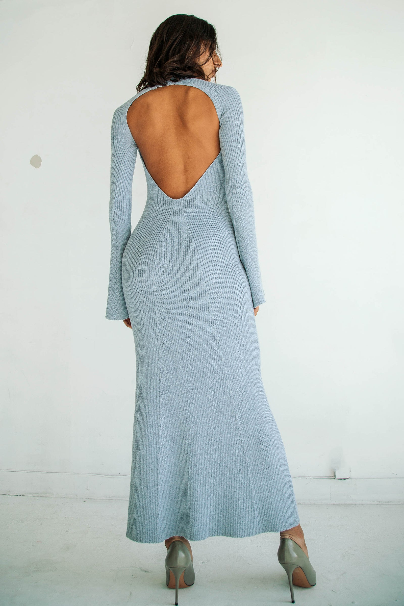 SEPTEMBER DRESS DUSTY BLUE