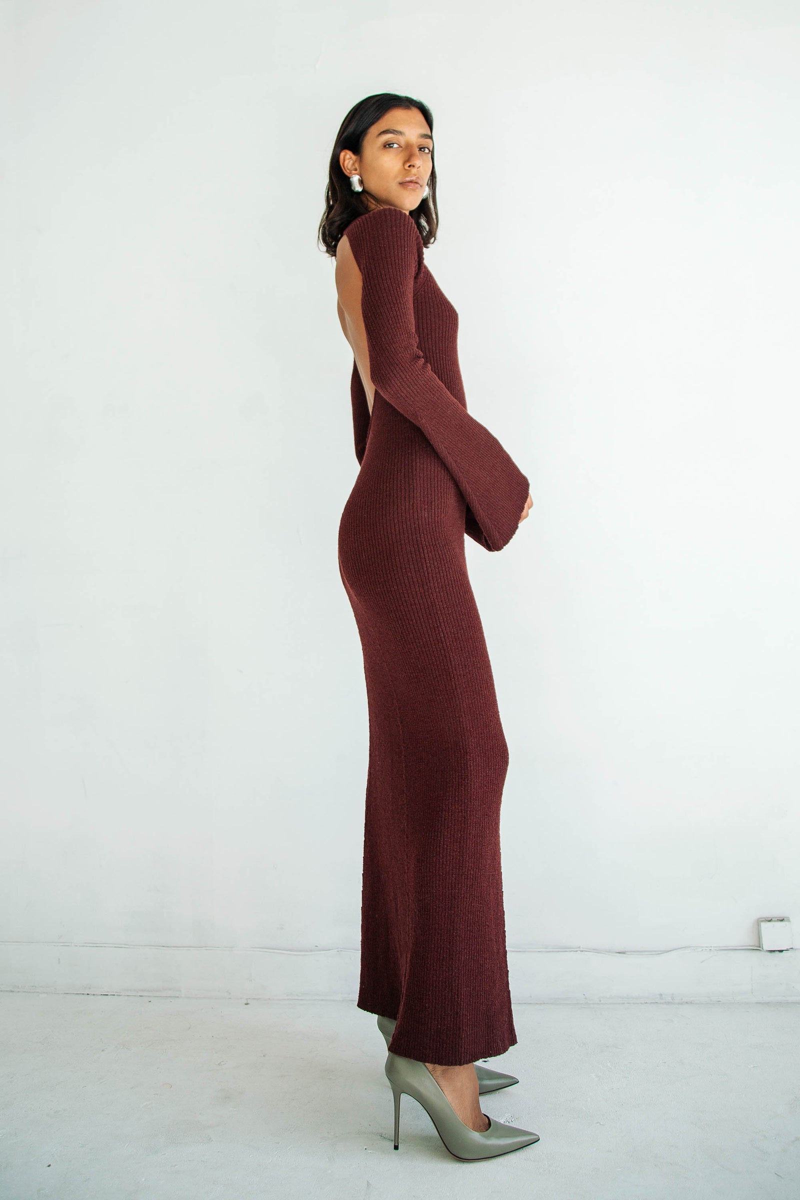 SEPTEMBER DRESS OXBLOOD