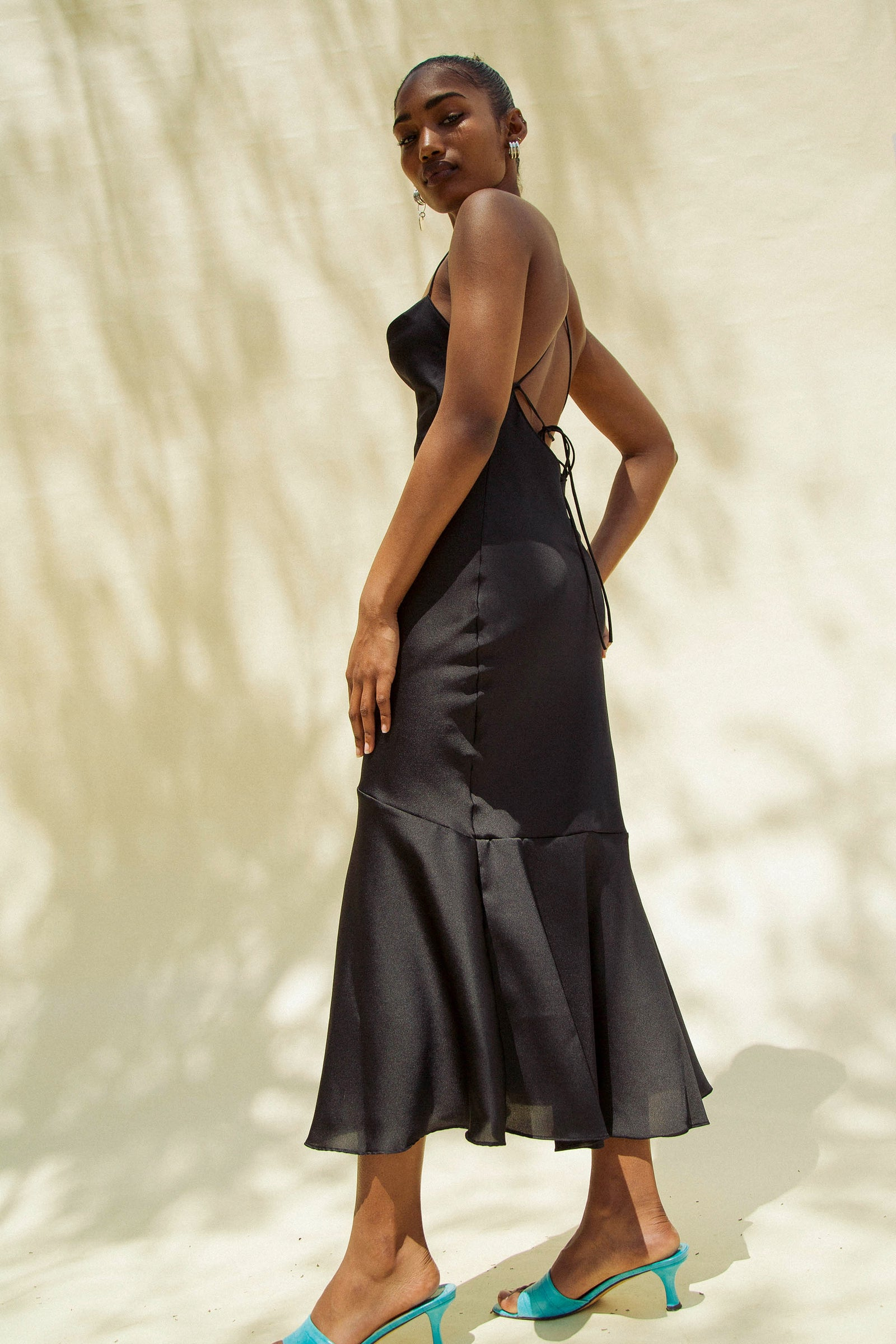 The Line by K Robi Black Slip Dress
