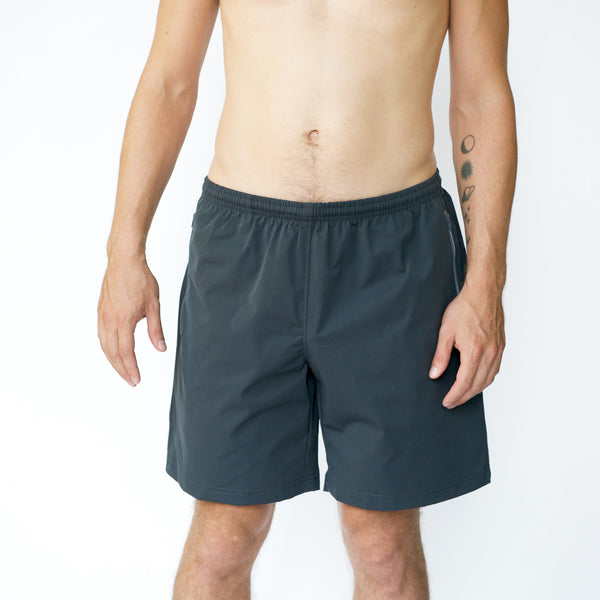 The Moon & Son All Temp Zip Short  | Space Grey