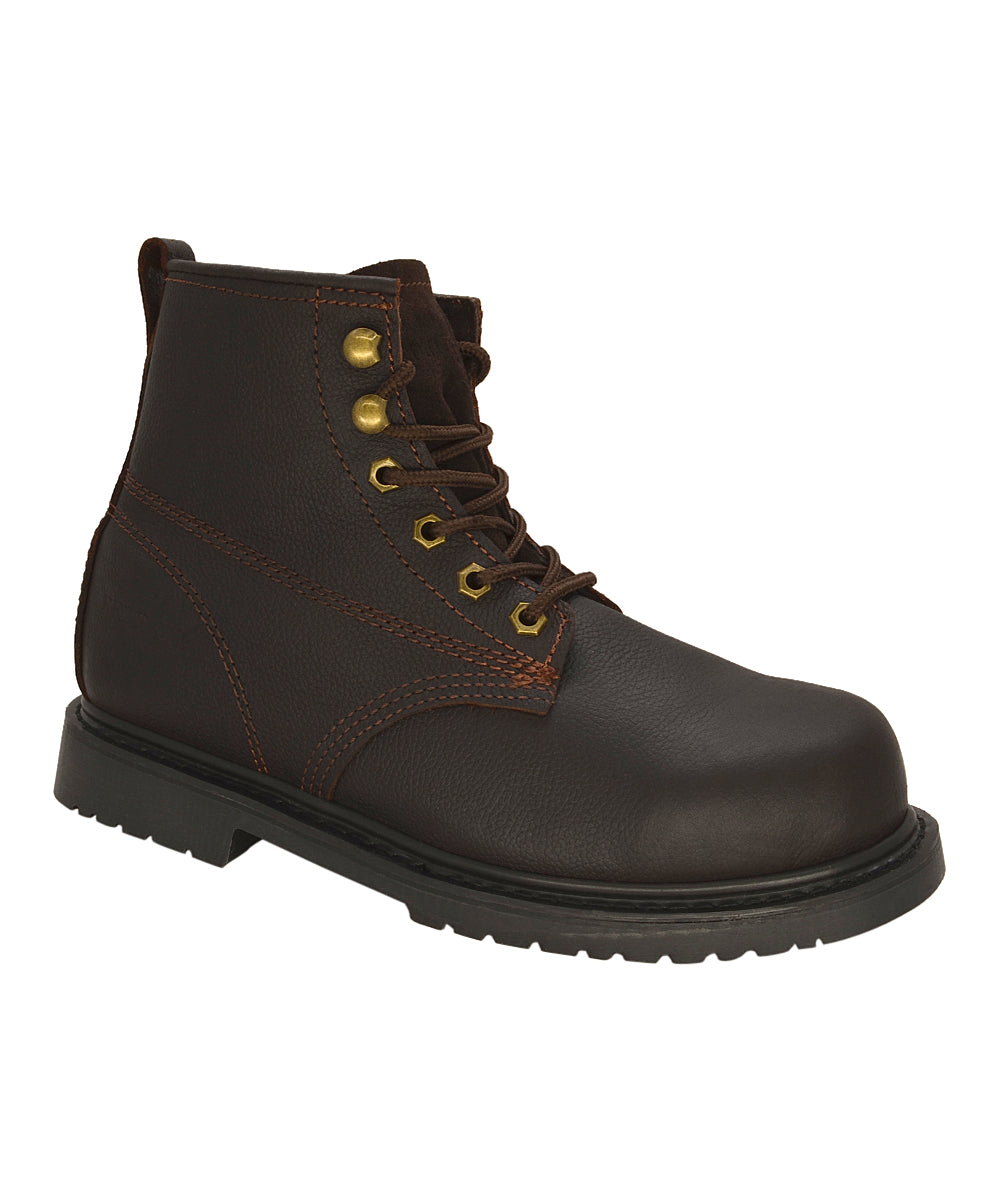 "6"" - 615 Plain Toe - Slip Resistant - Dark Brown"